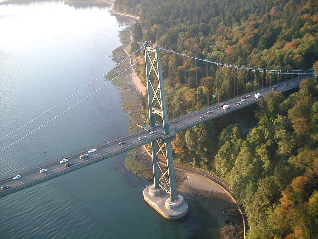 The Lions Gate Toll Bridge Opened To Traffic In 1938