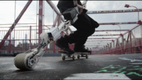 Check out the KickStick on Kickstarter for More Skateboard Power then Shaking a Leg!