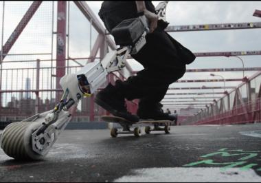 Check out the KickStick on Kickstarter for More Skateboard Power then Shaking a Leg!