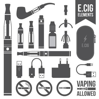 E-cigarette elements