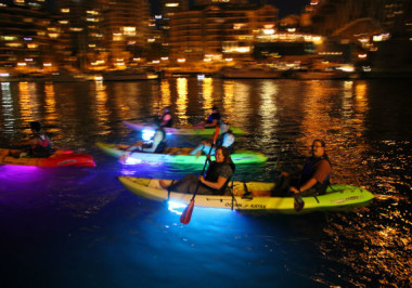 Light up the night on the water at Granville Island